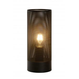 LUCIDE 03516/01/30 | Beli Lucide stolové svietidlo 30cm prepínač na vedení 1x E27 čierna