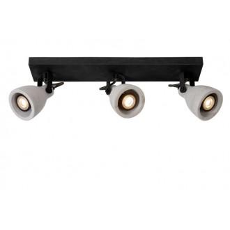 LUCIDE 05910/15/30 | Concri Lucide spot svietidlo otočné prvky 3x GU10 960lm 3000K čierna, sivé