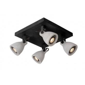 LUCIDE 05910/19/30 | Concri Lucide spot svietidlo otočné prvky 4x GU10 1280lm 3000K čierna, sivé