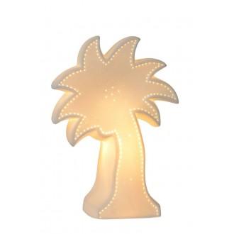LUCIDE 13523/01/31 | Palm Lucide stolové svietidlo 26,3cm 1x E14 biela, zelená