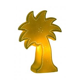LUCIDE 13523/01/33 | Palm Lucide stolové svietidlo 26,3cm 1x E14 biela, zelená