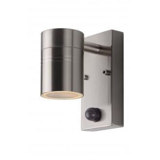 LUCIDE 14866/05/12 | Arne Lucide rameno stenové svietidlo pohybový senzor, svetelný senzor - súmrakový spínač 1x GU10 350lm 2700K IP44 chróm