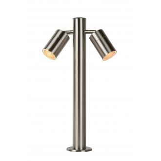LUCIDE 14867/10/12 | Arne Lucide stojaté svietidlo 50cm otočné prvky 2x GU10 350lm 2700K IP44 satén chróm
