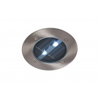 LUCIDE 14874/01/12 | SolarL Lucide zabudovateľné svietidlo Ø120mm 120x120mm 2x LED 10lm 6500K IP44 chróm