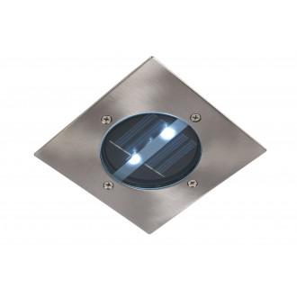 LUCIDE 14875/01/12 | SolarL Lucide zabudovateľné svietidlo 120x120mm 2x LED 10lm 6500K IP44 chróm
