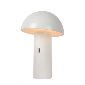 LUCIDE 15599/06/31 | Fungo Lucide stolové svietidlo 25,5cm 1x LED 3000K biela