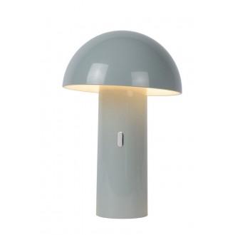 LUCIDE 15599/06/36 | Fungo Lucide stolové svietidlo 25,5cm 1x LED 3000K sivé