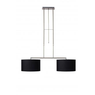 LUCIDE 17400/02/30   Bilja Lucide visiace svietidlo otočné prvky 2x E27 chróm, čierna