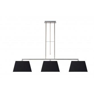 LUCIDE 17401/03/30 | Bilja Lucide visiace svietidlo otočné prvky 3x E27 chróm, čierna