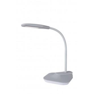 LUCIDE 18672/05/36 | Aiden-LU Lucide stolové, štipcové svietidlo 59,5cm dotykový prepínač s reguláciou svetla regulovateľná intenzita svetla, USB prijímač 1x LED 400lm 3000K sivé