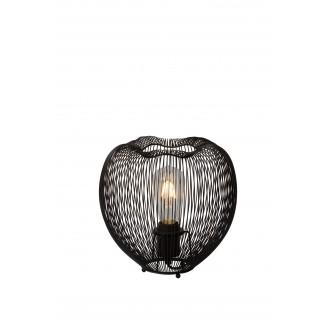 LUCIDE 20501/25/30 | Wirio Lucide stolové svietidlo 25cm prepínač 1x E27 čierna