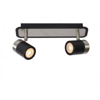 LUCIDE 26957/10/30 | Lennert Lucide spot svietidlo otočné prvky 2x GU10 320lm 3000K čierna, chróm