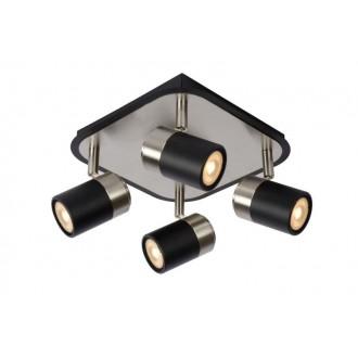 LUCIDE 26957/20/30 | Lennert Lucide spot svietidlo otočné prvky 4x GU10 320lm 3000K čierna, chróm