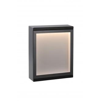 LUCIDE 27879/06/30 | Cadra Lucide stenové svietidlo 1x LED 312lm 3000K IP54 čierna, opál