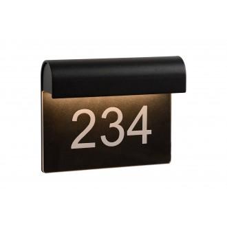 LUCIDE 27881/06/30 | Thesi Lucide stenové svietidlo 1x LED 220lm 3000K IP54 čierna
