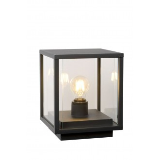 LUCIDE 27883/25/30 | ClaireL Lucide stolové svietidlo 24,5cm 1x E27 IP54 čierna, priesvitné