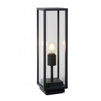 LUCIDE 27883/50/30 | ClaireL Lucide stolové svietidlo 50cm 1x E27 IP54 čierna, priesvitné