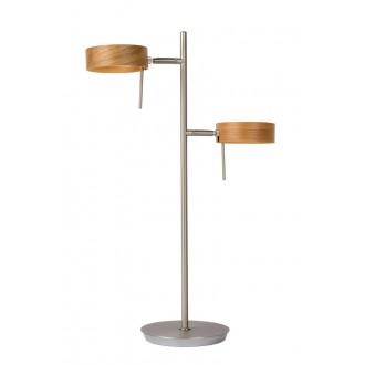 LUCIDE 48551/10/72 | Enia Lucide stojaté svietidlo 54,5cm prepínač na vedení 2x LED 400lm 3000K chróm, drevo