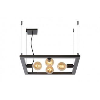 LUCIDE 73403/04/15 | Thor-LU Lucide stolové svietidlo 130cm 4x E27 oceľovo šedý
