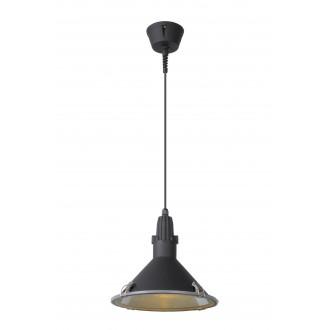 LUCIDE 79459/30/30 | Tonga Lucide visiace svietidlo 1x E27 IP44 čierna, priesvitné