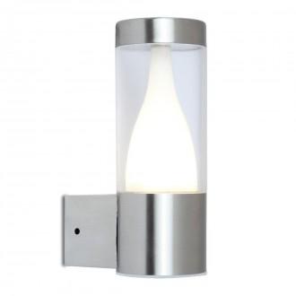 LUTEC 5008101001 | Virgo-LU Lutec rameno stenové svietidlo 1x LED 350lm 3000K IP44 zušľachtená oceľ, nehrdzavejúca oceľ, priesvitné