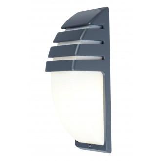 LUTEC 5183601118 | City-LU Lutec stenové svietidlo 1x E27 IP44 antracitová sivá, opál