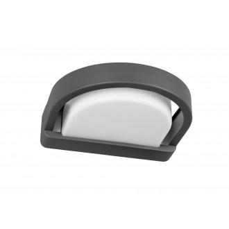 LUTEC 5184901118 | Origo Lutec rameno stenové svietidlo 1x E27 IP54 antracitová sivá, opál