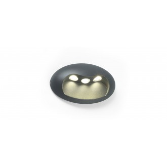 LUTEC 5186004118 | Eyes Lutec stenové svietidlo 1x LED 370lm 4000K IP54 antracitová sivá, priesvitné