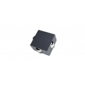 LUTEC 5186304118 | Evans Lutec stenové svietidlo 1x LED 222lm 4000K IP54 antracitová sivá, priesvitné