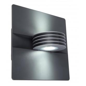 LUTEC 5187901000 | Split-LU Lutec rameno stenové svietidlo 1x LED 480lm 4000K IP44 antracitová sivá, priesvitné