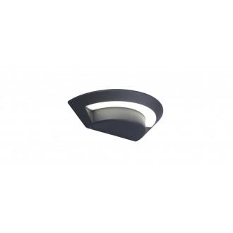 LUTEC 5188003118 | Ghost-LU Lutec stenové svietidlo 1x LED 360lm 4000K IP54 antracitová sivá