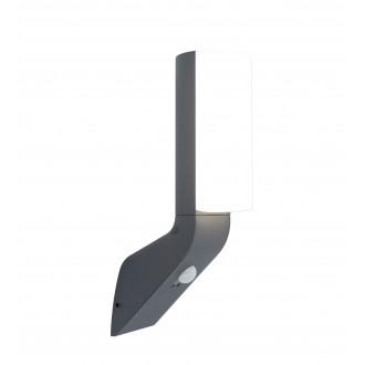 LUTEC 5188602125 | Bati Lutec rameno stenové svietidlo pohybový senzor, svetelný senzor - súmrakový spínač 1x LED 1100lm 4000K IP44 tmavošedá, opál