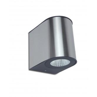 LUTEC 5189001118 | Gemini Lutec stenové svietidlo 1x LED 1240lm 4000K IP54 strieborno sivá, priesvitné