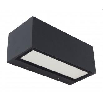 LUTEC 5189101118 | Gemini Lutec stenové svietidlo 1x LED 1230lm 4000K IP54 čierna, priesvitné