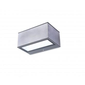 LUTEC 5189103118 | Gemini Lutec stenové svietidlo 1x LED 500lm 4000K IP54 zušľachtená oceľ, nehrdzavejúca oceľ, priesvitné