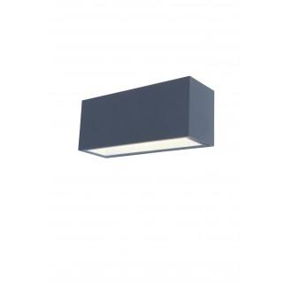 LUTEC 5189104118 | Gemini Lutec stenové svietidlo 1x LED 3300lm 4000K IP54 antracitová sivá, priesvitné