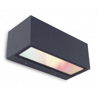 LUTEC 5189111118 | WiZ-Gemini Lutec stenové WiZ múdre osvetlenie regulovateľná intenzita svetla, nastaviteľná farebná teplota, meniace farbu, otočné prvky, Wifi pripojenie 1x LED 900lm 2200 <-> 6500K IP54 čierna, priesvitné