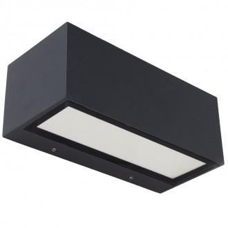 LUTEC 5189112118 | Gemini Lutec stenové svietidlo 1x LED 1230lm 3000K IP54 čierna, priesvitné