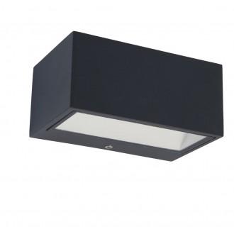 LUTEC 5189113118 | Gemini Lutec stenové svietidlo 1x LED 500lm 3000K IP54 antracitová sivá, priesvitné