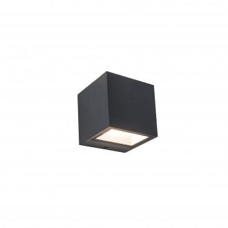LUTEC 5189114118 | Gemini Lutec stenové svietidlo 1x LED 850lm 4000K IP54 tmavošedá