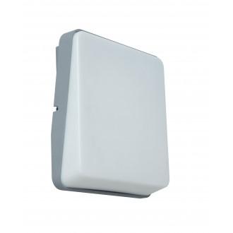 LUTEC 5189401112 | Even Lutec stenové svietidlo 1x LED 650lm 3000K IP54 strieborno sivá, opál