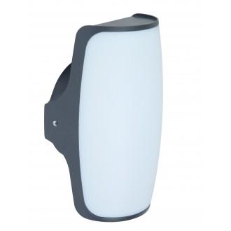 LUTEC 5189901118 | Seco Lutec rameno stenové svietidlo 1x LED 770lm 3000K IP54 antracitová sivá, opál