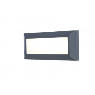 LUTEC 5191601118 | Helena-LU Lutec stenové svietidlo 1x LED 400lm 4000K IP54 antracitová sivá, opál