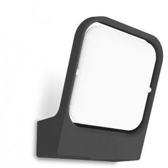 LUTEC 5192801118 | Faccia Lutec rameno stenové svietidlo 1x LED 1000lm 3000K IP54 antracitová sivá, opál