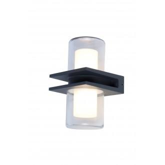 LUTEC 5192901118 | Mito Lutec rameno stenové svietidlo 1x LED 800lm 3000K IP54 antracitová sivá, opál, priesvitné