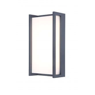 LUTEC 5193001118 | Qubo Lutec stenové svietidlo 1x LED 1100lm 3000K IP54 antracitová sivá, opál