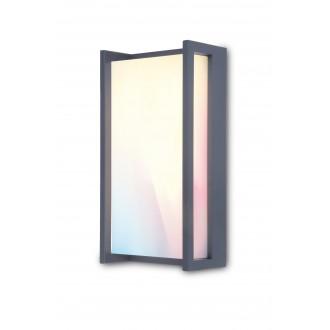 LUTEC 5193003118 | WiZ-Qubo Lutec stenové WiZ múdre osvetlenie regulovateľná intenzita svetla, nastaviteľná farebná teplota, meniace farbu, otočné prvky, Wifi pripojenie 1x LED 1000lm 2200 <-> 6500K IP54 antracitová sivá, opál