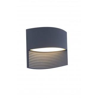 LUTEC 5193201118 | Lotus-LU Lutec stenové svietidlo 1x LED 500lm 3000K IP54 antracitová sivá, priesvitná
