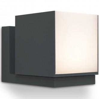 LUTEC 5193803118 | Cuba-LU Lutec rameno stenové svietidlo otočné prvky 1x LED 600lm 3000K IP54 tmavošedá, opál