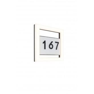 LUTEC 5194301118 | Alice-LU Lutec stenové svietidlo 1x LED 800lm 3000K IP44 tmavo sivé, opál